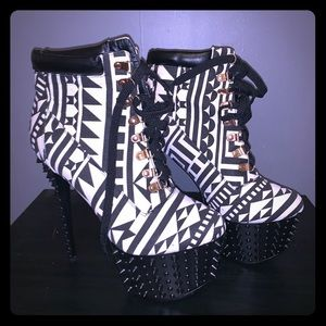 Red Kiss Spiked heels new